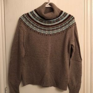 J. Crew turtleneck fair isle sweater